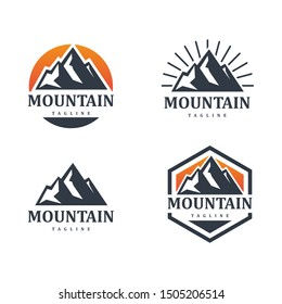 MOUNTAIN ADVENTURE SET LOGO TEMPLATE