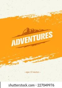 Mountain Adventures Vector Outdoor Background Concept