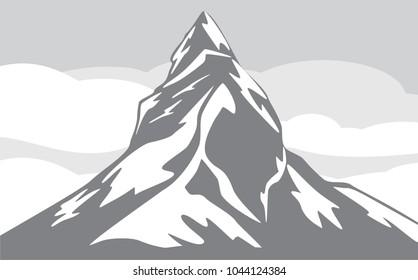 Mountain background. Vector