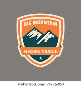 Mountain badge and logo patch