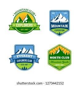 Mountain Badges Retro