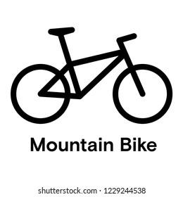 Mountain Bicycle Icon