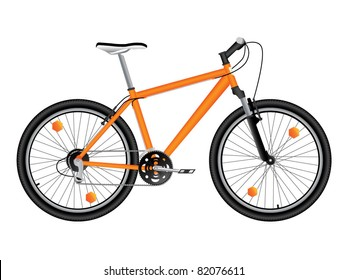Mountain bicycle. Vector.