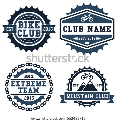 Mountain Bike Bmx Club Badge Isolated Stock Vector Royalty Free