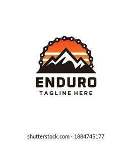Mountain bike cycle enduro logo design chain combination