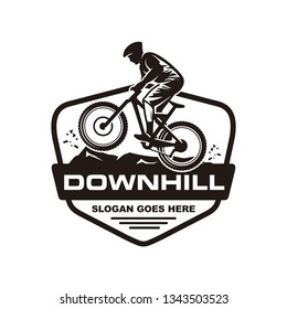 Mountain bike, downhill bike logo template