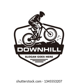 Mountain bike, downhill bike logo template