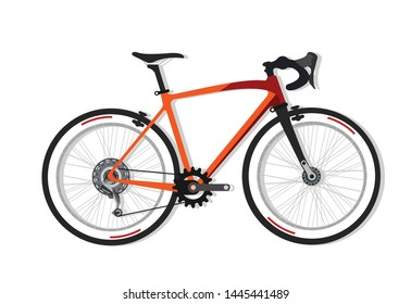 Mountain bike female bicycle vector (side view)