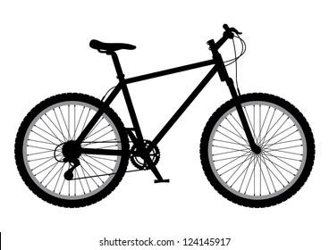 Mountain bike Illustration