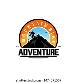 Mountain Bike Logo Design Vector Template
