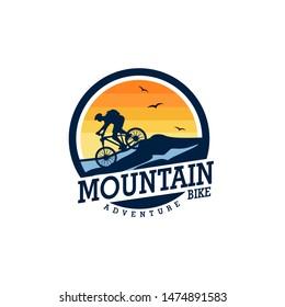 Mountain Bike Logo Design Vector Template