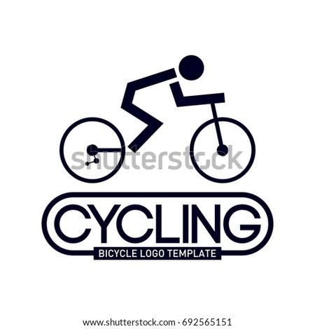 mountain bike logo template stock vector royalty free 692565151