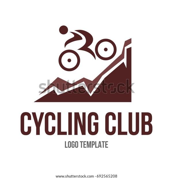 Mountain bike logo template