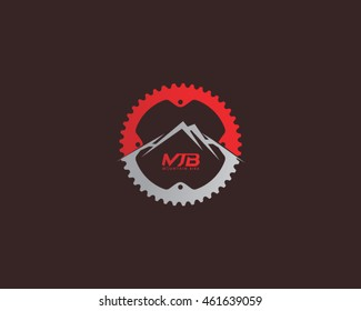 Mountain Bike Logo Vector