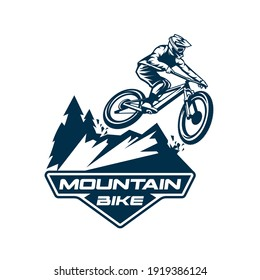 mountain bike logo vector symbol