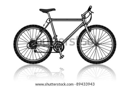 Mountain Bike Vector Stock Vector Royalty Free 89433943 Shutterstock
