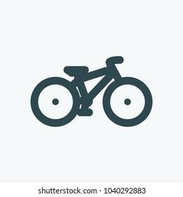 Mountain bike vector icon