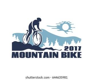 Mountain bike vector icon.