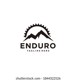 Mountain bike/cycle enduro logo design gear/chain combination
