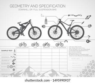 Mountain bikes, downhill or full suspension.