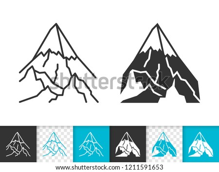 Mountain black linear and