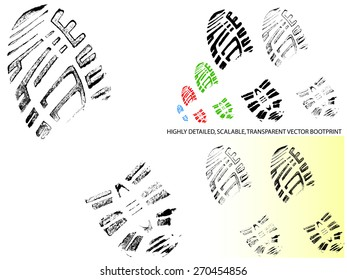 Mountain Bootprint -Detailed and transparent illustration