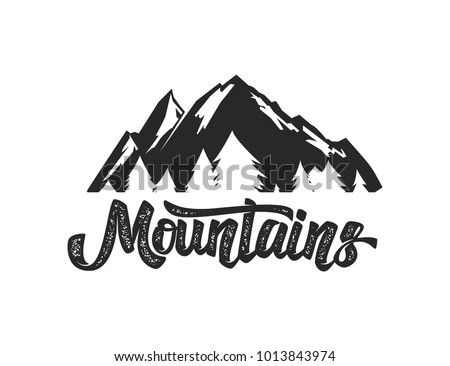 Mountain Camp Emblem Template Design Element Image Vectorielle De