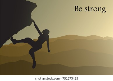 mountain climber vector illustration