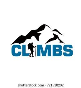 Mountain Climbing Logo