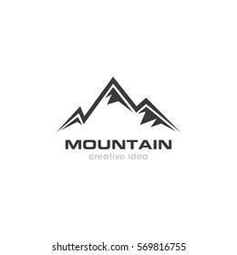 Mountain Creative Concept Logo Design Template