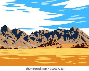 Mountain desert landscape