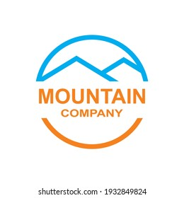 Mountain design template vector illustration symbol