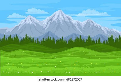 mountain forest meadow landscape