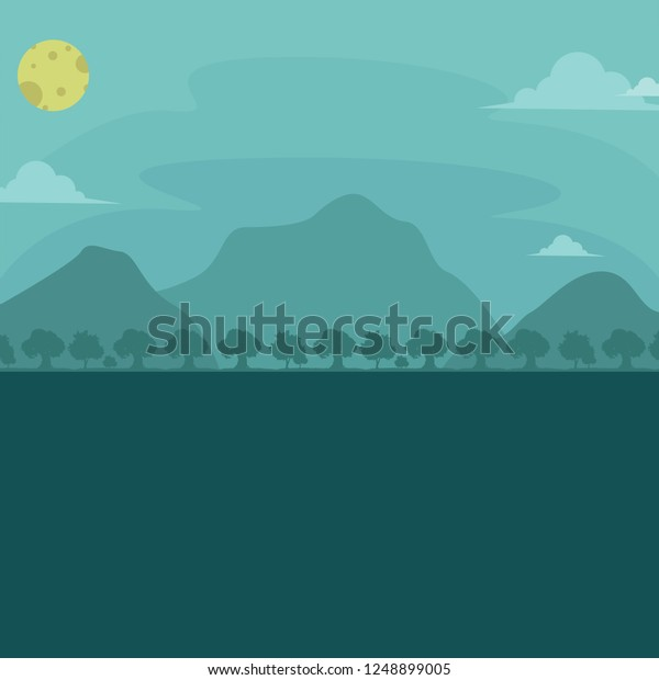 Vector De Stock Libre De Regalías Sobre Mountain Forest