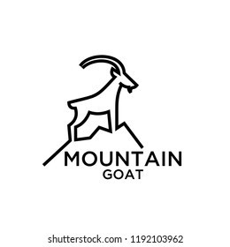 mountain goat line logo icon designs vector