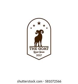 Mountain goat logo design template.