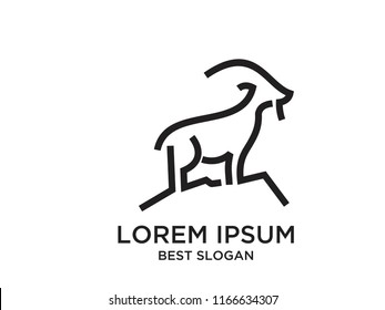 mountain goat logo icon designs
