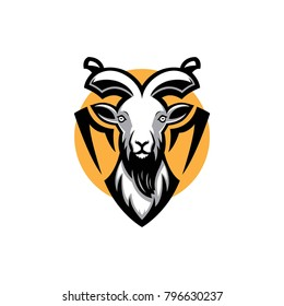 Mountain goat logo mascot template
