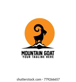 Mountain Goat Logo Vector