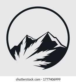 Mountain hemp minimalist logo design