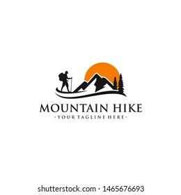 Mountain Hike Logo Vector Template