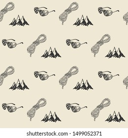 Mountain hiking outdoor pattern, seamless, tile, background