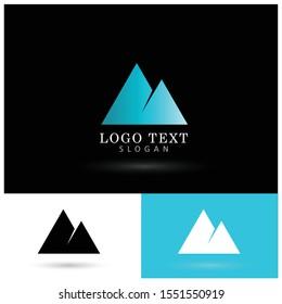 Mountain & Hills Logo. Symbol & Icon Vector Logo.