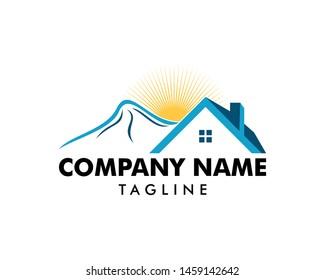 Mountain house logo icon vector template