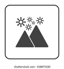 mountain ice flake icon