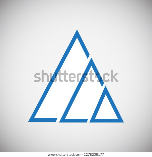 Mountain Icon Blue On White Background Stock Vector (Royalty