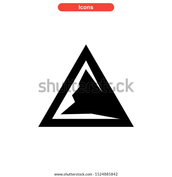 Mountain icon isolated sign symbol vector illustration - high quality black style vector icons