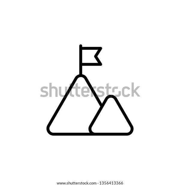 Mountain Icon Leadership Success Icon Mountains Stock Vector Royalty Free 1356413366 Keyboard shortcuts ← → flip it). shutterstock