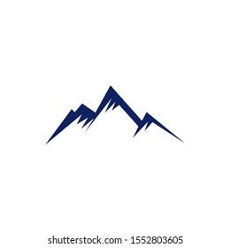 Mountain icon logo design vector illustration template