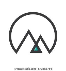 mountain icon. mountain logo template